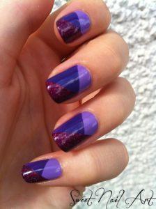 Multi-Tonal Purple Nail Design