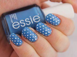 Blue Polka Dots nails