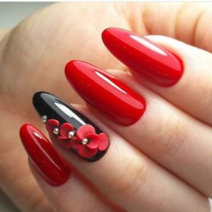 Flower Accents nails