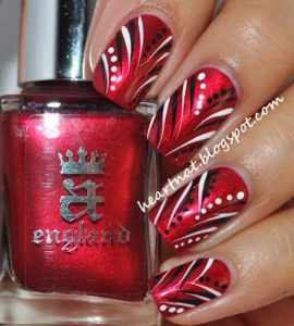 black red nail art