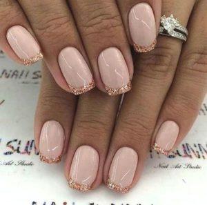 Glitter Tips nails