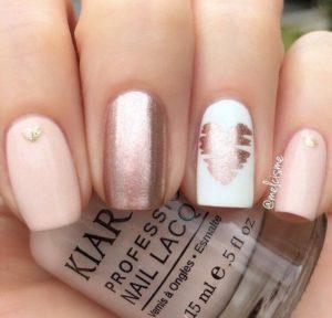 Heart Design nails