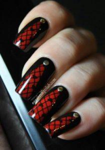 Lace Corset nails