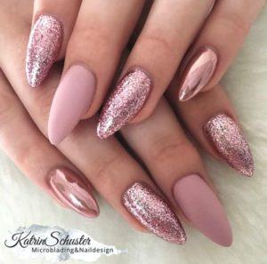 Matte Pink Sparkle