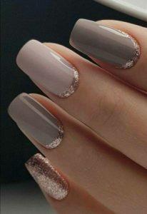 Reverse Glitter Tip nails
