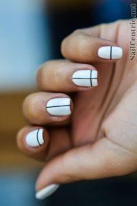 black stripe mani