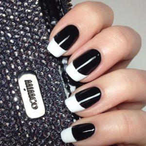 black white french