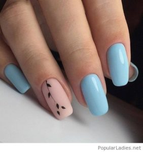 blue nail images