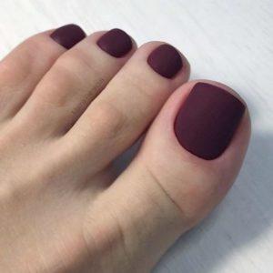 burgundy matte look