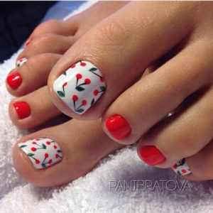 cherry toenail look