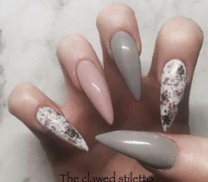 chic gray nails