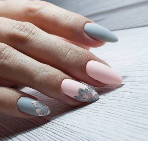 gray and pink design