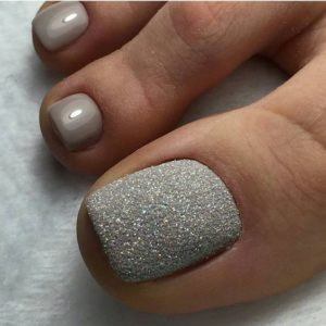 gray with shimmer look