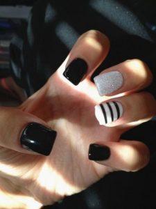 one stripe nail