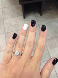 one white nail