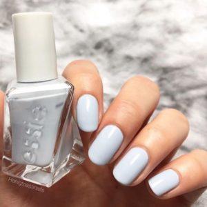 pastel blue nail art