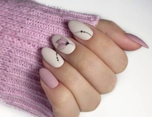 pastel wedding nails