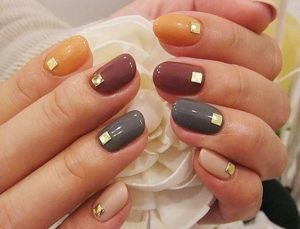 short nails fall design