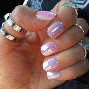 short pink nail look