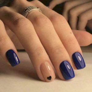 Indigo blue nails