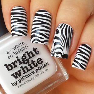 zebra mani nail designs