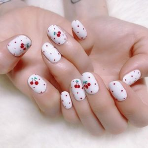 polka dot and cherries