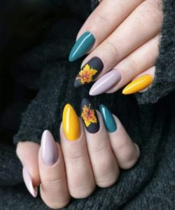 dashing fall nail design