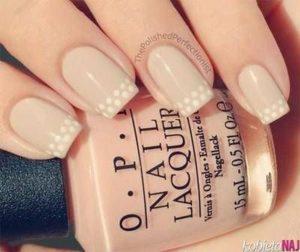 white dots beige