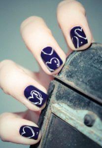 white stencil heart