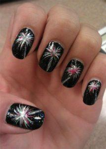 black glitter firework