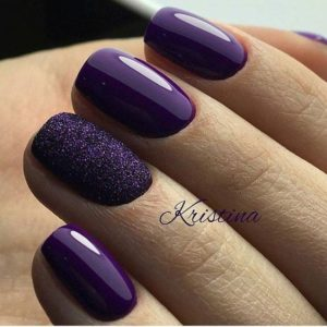 glossy purple look