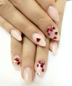 pointed nail glitter