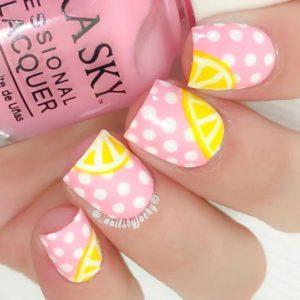 pink polka dot lemon