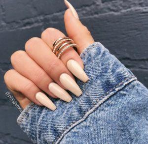 pointed beige