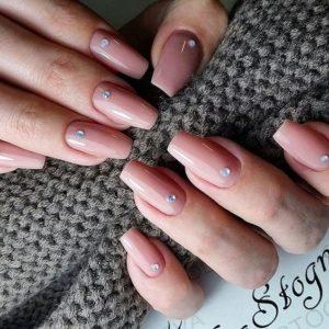crystal long nails