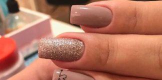 glitter heart nail designs