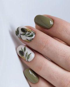 olive nail design