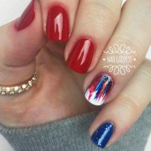 artsy nails 4th of july