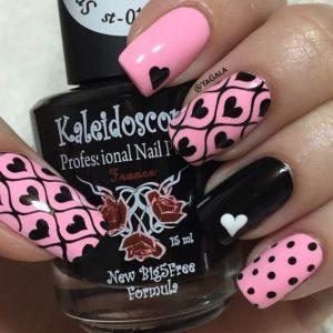 black pink heart
