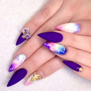 matte purple stiletto