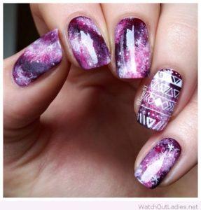 purple white galaxy