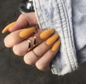 Matte acrylic nails coffinv
