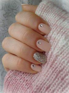 nude glitter stones