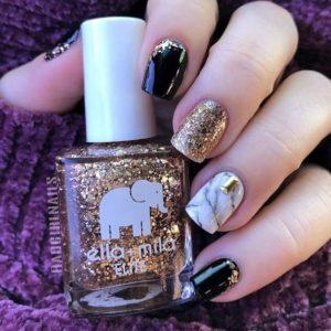gold black embellish