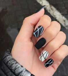 edgy black and white stripe