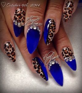 leopard rhinestone