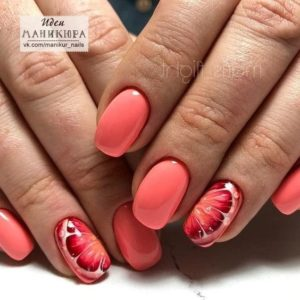 coral fruit nails