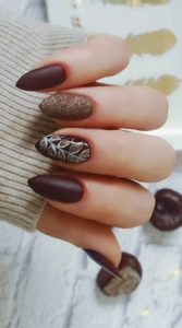 dark brown glitter