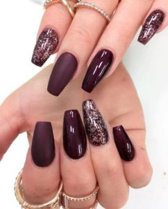 deep burgundy wine nails