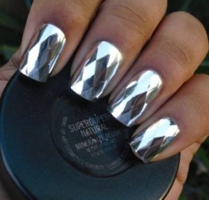 textured chrome silver